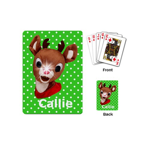 Mini Playing Cards Stocking Stuffer Gift Glow Nose By Laurrie   Playing Cards (mini)   Yoee68drspyx   Www Artscow Com Back