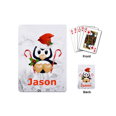 Mini Playing Cards Stocking Stuffer Gift Penguin By Laurrie   Playing Cards (mini)   M0av3mangivr   Www Artscow Com Back
