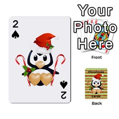 Christmas Cards Stocking Stuffer By Laurrie   Playing Cards 54 Designs (rectangle)   Acoe43j1wu61   Www Artscow Com Front - Spade2