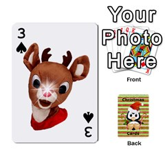 Christmas Cards Stocking Stuffer By Laurrie   Playing Cards 54 Designs (rectangle)   Acoe43j1wu61   Www Artscow Com Front - Spade3