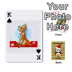 King Christmas Cards Stocking Stuffer By Laurrie   Playing Cards 54 Designs (rectangle)   Acoe43j1wu61   Www Artscow Com Front - SpadeK