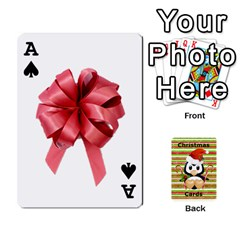 Ace Christmas Cards Stocking Stuffer By Laurrie   Playing Cards 54 Designs (rectangle)   Acoe43j1wu61   Www Artscow Com Front - SpadeA