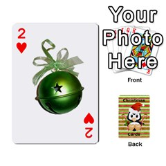 Christmas Cards Stocking Stuffer By Laurrie   Playing Cards 54 Designs   Acoe43j1wu61   Www Artscow Com Front - Heart2