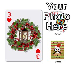 Christmas Cards Stocking Stuffer By Laurrie   Playing Cards 54 Designs (rectangle)   Acoe43j1wu61   Www Artscow Com Front - Heart3