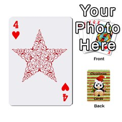 Christmas Cards Stocking Stuffer By Laurrie   Playing Cards 54 Designs   Acoe43j1wu61   Www Artscow Com Front - Heart4