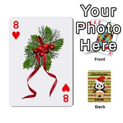 Christmas Cards Stocking Stuffer By Laurrie   Playing Cards 54 Designs (rectangle)   Acoe43j1wu61   Www Artscow Com Front - Heart8