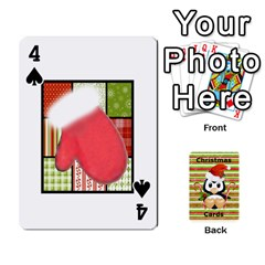 Christmas Cards Stocking Stuffer By Laurrie   Playing Cards 54 Designs (rectangle)   Acoe43j1wu61   Www Artscow Com Front - Spade4