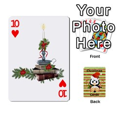 Christmas Cards Stocking Stuffer By Laurrie   Playing Cards 54 Designs (rectangle)   Acoe43j1wu61   Www Artscow Com Front - Heart10