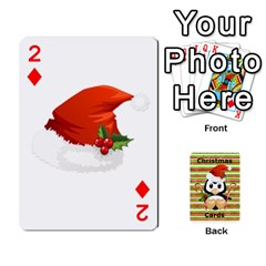 Christmas Cards Stocking Stuffer By Laurrie   Playing Cards 54 Designs   Acoe43j1wu61   Www Artscow Com Front - Diamond2