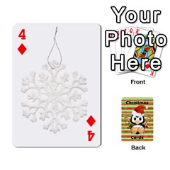 Christmas Cards Stocking Stuffer By Laurrie   Playing Cards 54 Designs (rectangle)   Acoe43j1wu61   Www Artscow Com Front - Diamond4