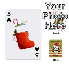 Christmas Cards Stocking Stuffer By Laurrie   Playing Cards 54 Designs (rectangle)   Acoe43j1wu61   Www Artscow Com Front - Spade5
