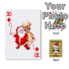 Christmas Cards Stocking Stuffer By Laurrie   Playing Cards 54 Designs   Acoe43j1wu61   Www Artscow Com Front - Diamond10