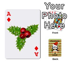 Ace Christmas Cards Stocking Stuffer By Laurrie   Playing Cards 54 Designs   Acoe43j1wu61   Www Artscow Com Front - DiamondA