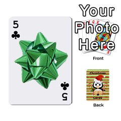 Christmas Cards Stocking Stuffer By Laurrie   Playing Cards 54 Designs   Acoe43j1wu61   Www Artscow Com Front - Club5