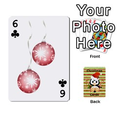 Christmas Cards Stocking Stuffer By Laurrie   Playing Cards 54 Designs   Acoe43j1wu61   Www Artscow Com Front - Club6