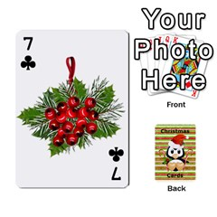 Christmas Cards Stocking Stuffer By Laurrie   Playing Cards 54 Designs   Acoe43j1wu61   Www Artscow Com Front - Club7