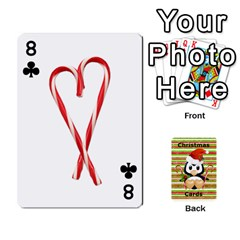 Christmas Cards Stocking Stuffer By Laurrie   Playing Cards 54 Designs   Acoe43j1wu61   Www Artscow Com Front - Club8