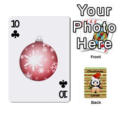 Christmas Cards Stocking Stuffer By Laurrie   Playing Cards 54 Designs   Acoe43j1wu61   Www Artscow Com Front - Club10