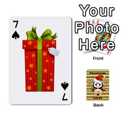 Christmas Cards Stocking Stuffer By Laurrie   Playing Cards 54 Designs (rectangle)   Acoe43j1wu61   Www Artscow Com Front - Spade7