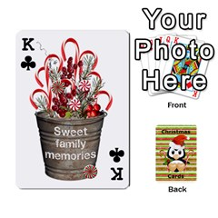 King Christmas Cards Stocking Stuffer By Laurrie   Playing Cards 54 Designs   Acoe43j1wu61   Www Artscow Com Front - ClubK