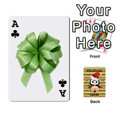 Ace Christmas Cards Stocking Stuffer By Laurrie   Playing Cards 54 Designs   Acoe43j1wu61   Www Artscow Com Front - ClubA