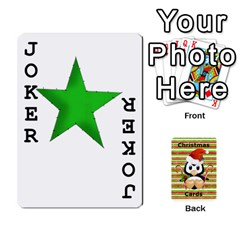 Christmas Cards Stocking Stuffer By Laurrie   Playing Cards 54 Designs (rectangle)   Acoe43j1wu61   Www Artscow Com Front - Joker1