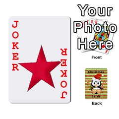 Christmas Cards Stocking Stuffer By Laurrie   Playing Cards 54 Designs   Acoe43j1wu61   Www Artscow Com Front - Joker2