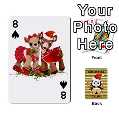 Christmas Cards Stocking Stuffer By Laurrie   Playing Cards 54 Designs   Acoe43j1wu61   Www Artscow Com Front - Spade8