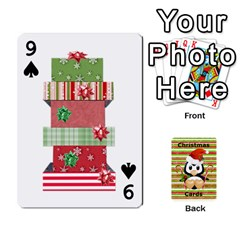 Christmas Cards Stocking Stuffer By Laurrie   Playing Cards 54 Designs (rectangle)   Acoe43j1wu61   Www Artscow Com Front - Spade9