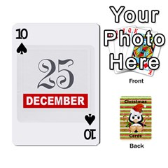 Christmas Cards Stocking Stuffer By Laurrie   Playing Cards 54 Designs (rectangle)   Acoe43j1wu61   Www Artscow Com Front - Spade10