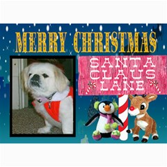 Santa Claus Lane Christmas Card By Kim Blair   5  X 7  Photo Cards   Ollw6limndgx   Www Artscow Com 7 x5 Photo Card - 7