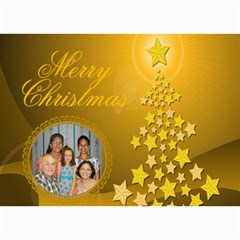 Gold Christmas tree card 1 by Kim Blair 7 x5 Photo Card - 1
