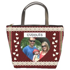 Cuddles And Kisses Bucket Bag By Lil    Bucket Bag   L9llcw5fd4j4   Www Artscow Com Front
