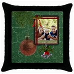 Christmas Bells Throw Pillow Case - Throw Pillow Case (Black)