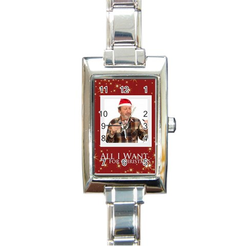 Xmas Gift By May   Rectangle Italian Charm Watch   Caeje7rh33xe   Www Artscow Com Front