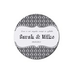 Wedding Favor Coaster - Rubber Coaster (Round)