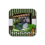 Tropical Vacation Coaster 2 - Rubber Coaster (Square)