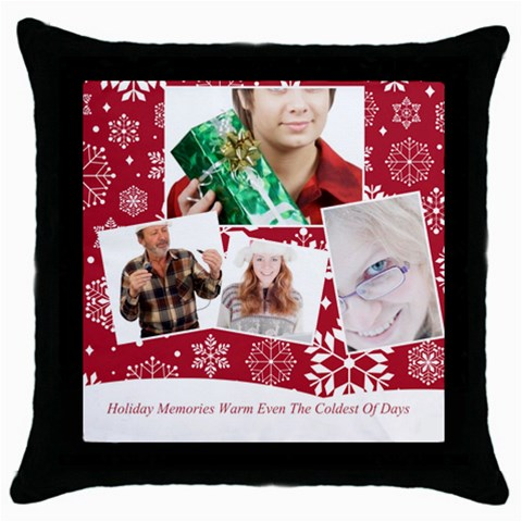 Christmas By May   Throw Pillow Case (black)   2dqq1o5l71kr   Www Artscow Com Front