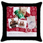 christmas - Throw Pillow Case (Black)