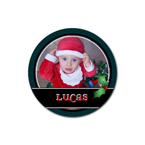 Christmas Drink Coaster By Mum2 3boys   Rubber Coaster (round)   9waqpx2xi29o   Www Artscow Com Front