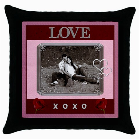 Love Throw Pillow Case By Lil    Throw Pillow Case (black)   5c5b137gs82i   Www Artscow Com Front