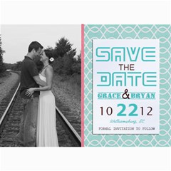 Savethedate! By Lana Laflen   5  X 7  Photo Cards   C5e6o0sp522h   Www Artscow Com 7 x5 Photo Card - 5