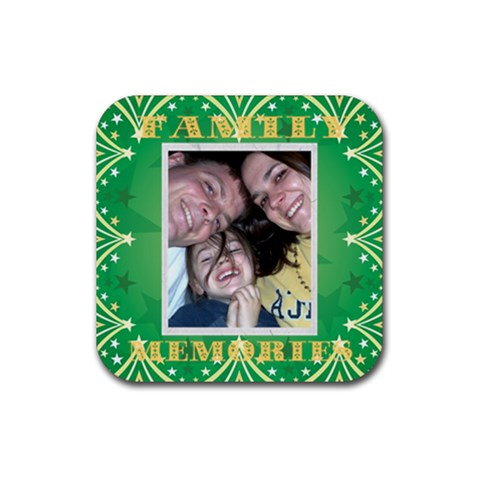 Annette 3 By Jolene   Rubber Coaster (square)   Ri1db9h41g7p   Www Artscow Com Front