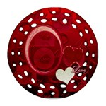 I Heart You red double sided Filigree ornament - Round Filigree Ornament (Two Sides)