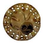 Love gold double sided Filigree ornament - Round Filigree Ornament (Two Sides)