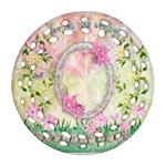 Spring has Sprung easter floral double sided Filigree ornament - Round Filigree Ornament (Two Sides)