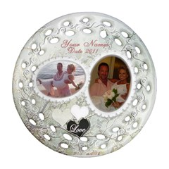 Spring White Wedding Double Sided Filigree Ornament By Ellan   Round Filigree Ornament (two Sides)   Hu26uoe9sldg   Www Artscow Com Front