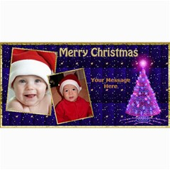 Deep Blue Christmas 4x8 Photo Card By Deborah   4  X 8  Photo Cards   Eshl172jgpdd   Www Artscow Com 8 x4 Photo Card - 4