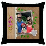 Lovely Design Throw Pillow Case - Throw Pillow Case (Black)