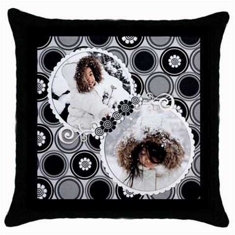 Throw Pillow   A By Angel   Throw Pillow Case (black)   An8chdkqz0hw   Www Artscow Com Front